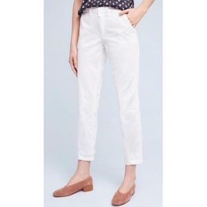 Chino by Anthropologie Relaxed White Chino Pants